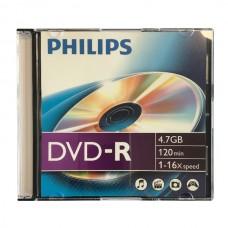 DVD lemez Philips 4,7GB -R slim tokos PH922500