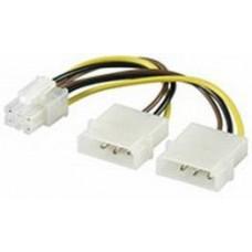 4pin(Molex) > PCI-Express 6pin átalakító Goobay 51360