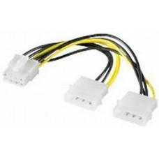 4pin(Molex) > PCI-Express 8pin átalakító Goobay 93241