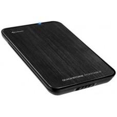 """Drive kit USB 2,5"""" SATA USB 2.0 Sharkoon QuickStore Portable fekete szálcsiszolt"""