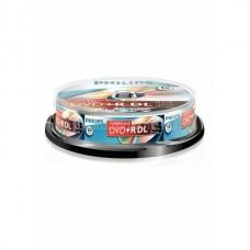 DVD lemez Philips 8,5GB +R DualLayer 10lemez/henger PH383756