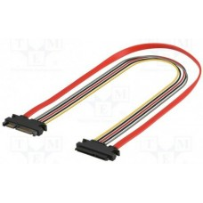 SATA tápkábel + SATA adatkábel hosszabító 30cm Goobay 93945