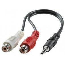 Audió kábel 3.5mm jack - 2x RCA 0,2m 11.99.4340