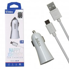 Autós töltő 2xUSB aljzattal 2400mA + micro USB kábel Inkax CD-29-MICRO