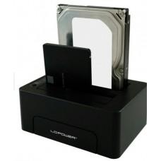 "HDD dokkoló 2,5""-3,5""SATA/USB-C 3.1 LC Power LC-DOCK-C"