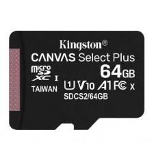 SD Micro  64GB XC Kingston Adapter nélkül CL10 SDCS2/64GBSP