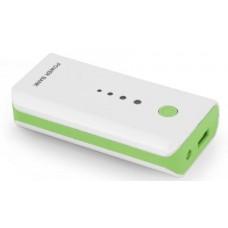 Esperanza Electron 5200mAh hordozható akkumulátor fehér-zöld EMP104WG