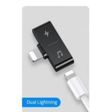 Audió adapter Lightning - 2x Lightning Usams SJ384LN01
