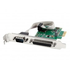 I/O PCX kártya 1soros port+1párhuzamos port Gembird PEX-COMLPT-01