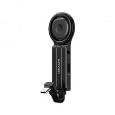 Audió adapter USB-C - 3,5mm jack +USB-C telefongyűrűvel Usams SJ359TC01